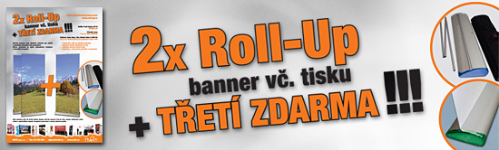Akce Roll-Up 2+1 zdarma